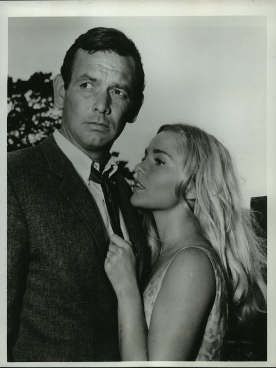 1965 Press Photo David Janssen & Tuesday Weld in ABC-TV's The Fugitive