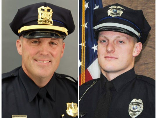 Des Moines police Sgt. Anthony Beminio (left) and Urbandale