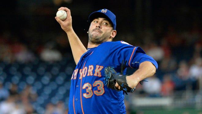 New York Mets starting pitcher Matt Harvey had a 2.71 ERA this season.