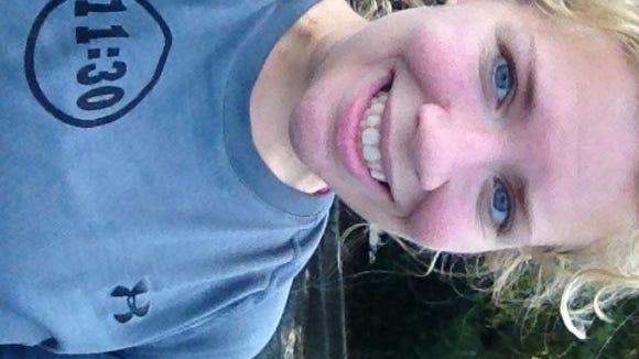 Summer 5K race selfie