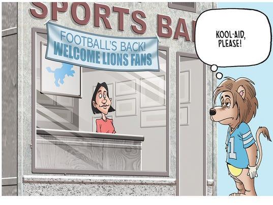 Detroit Lions cartoon caption contest winner