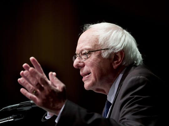 In this photo taken June 24, 2016, Democratic presidential candidate Sen. Bernie Sanders, I-Vt. speaks in Albany, N.Y. (AP Photo/Mike Groll)