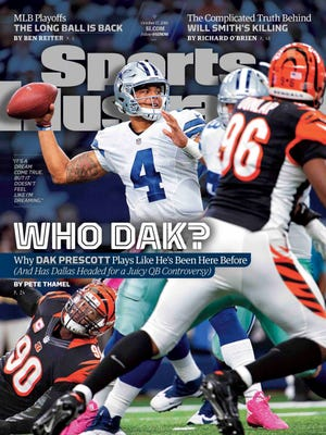 Former Mississippi State quarterback Dak Prescott is on the cover of Sports Illustrated for the third time.