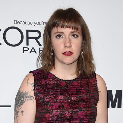 Lena Dunham arrives at the Glamour Women of the Year