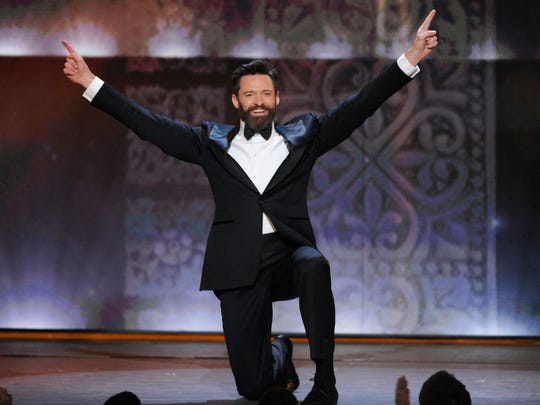 Hugh Jackman hosts the 68th annual Tony Awards in 2014.