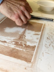 The Eiffel Tower print will also be on display at the