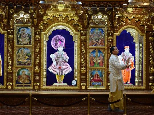 Rasikbhai Patel is the caretaker at Shree Swaminarayan Temple in Secaucus.
