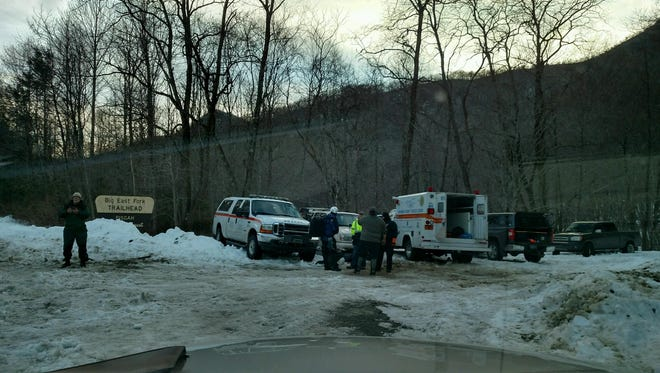 The Cruso Fire Department was one of several agencies involved in the rescue of a man from atop Mount Pisgah during a snowstorm in January.