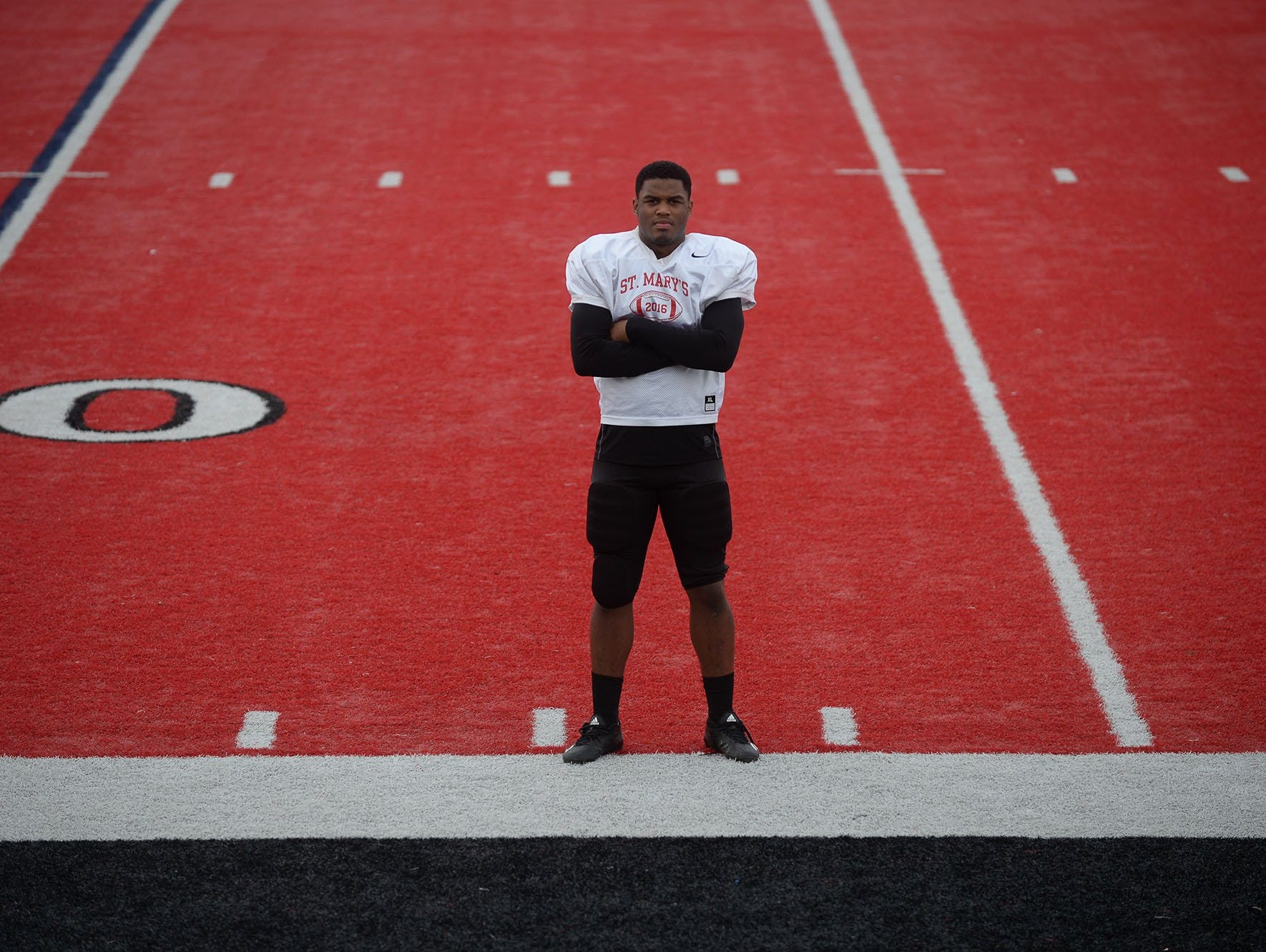 Orchard Lake St. Mary's linebacker Josh Ross poses before practice Tuesday, Nov. 8, 2016 at Orchard Lake St. Mary's.