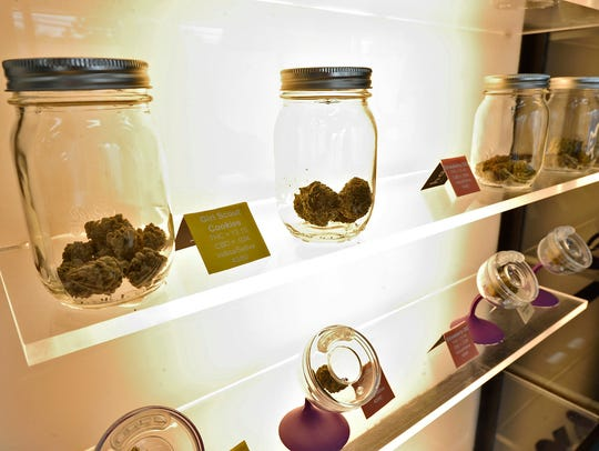 Medical cannabis on display at the Harmony Dispensary