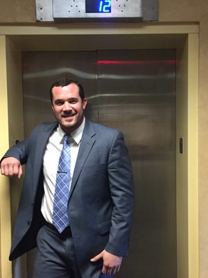 Nashville attorney Luke Hammond survived falling nearly 10 stories down the shaft of this elevator as a Vanderbilt football player and uses his recovery from the accident as motivation for his clients today.