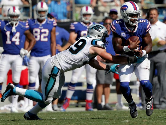 Tyrod Taylor threw for only 125 yards against the Panthers