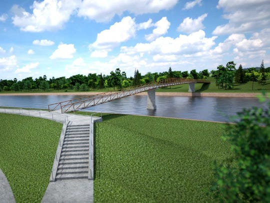 Hubbell Realty Co. plans a pedestrian bridge over the