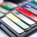How many credit cards do you have in your wallet?
