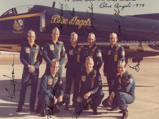 1979 Blue Angels team including Lt. Jim Ross (back row third from left)