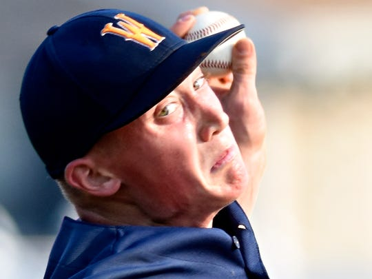 Mount Wolf's Mark Burnside threw a one-hit shutout on Wednesday against Pleasureville. YORK DISPATCH FILE PHOTO