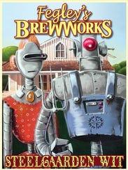 Fegley's Brew Works' nifty Steel Garden Wit label,