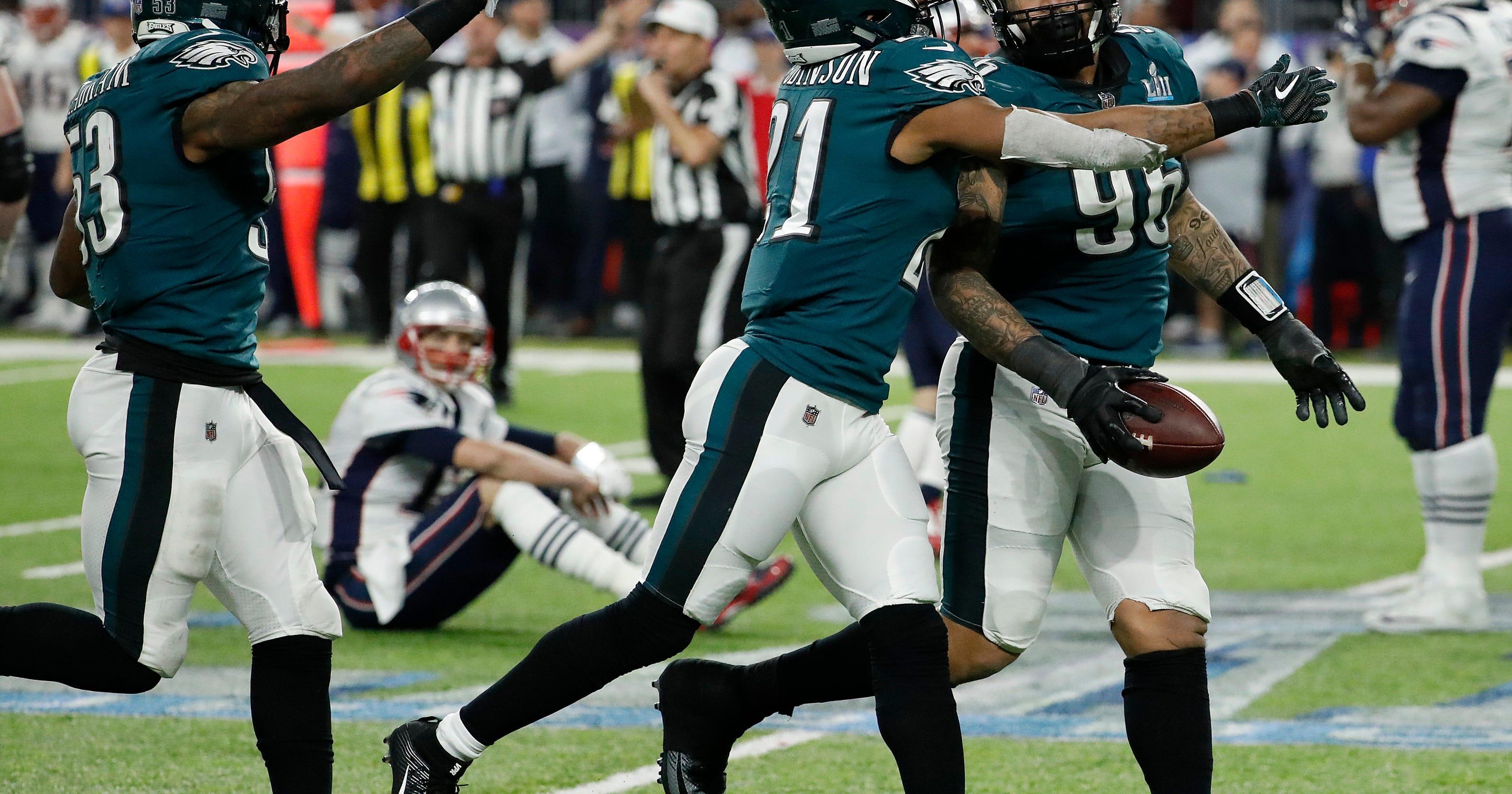 ca5cb348989 Graham's strip-sack of Brady hands Super Bowl to Eagles