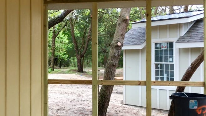 One of the new cabins at Cape Henlopen State Park is shown. The state parks system has created a Kickstarter campaign to raise money.