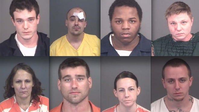 Top row, from left: Nicholas Davis, James Thommen, Vincent Floyd and Michelle Delaney. Bottom: Kimberlee Slotnick, Seth Wheeler, Carrin Washburn and Eric Hallmark.