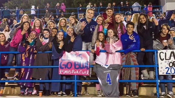 The Smoky Mountain student section showed its support for Lominac after his accident