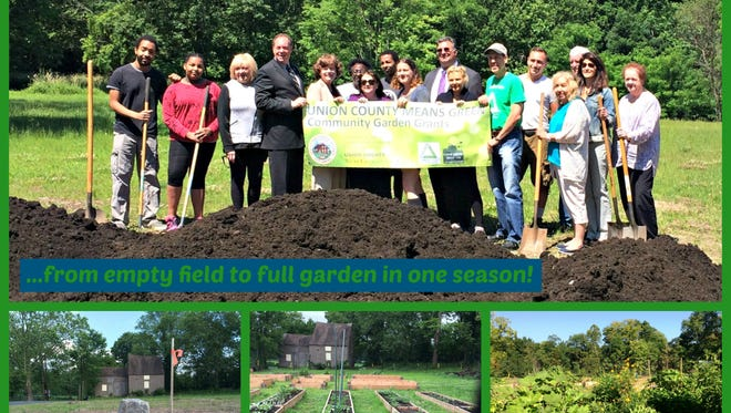 An empty field behind the historic Frazee House was transformed into the Scotch Plains-Fanwood Community Garden last year with the help of Freeholder Chairman Bruce Bergen's Union County Means Green garden grant initiative.