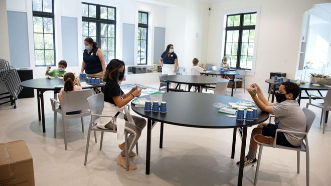 Facial coverings and social distancing were required during the Mad Science summer workshop for children ages 5 though 12 at The Morton and Barbara Mandel Recreation Center in Palm Beach in July.