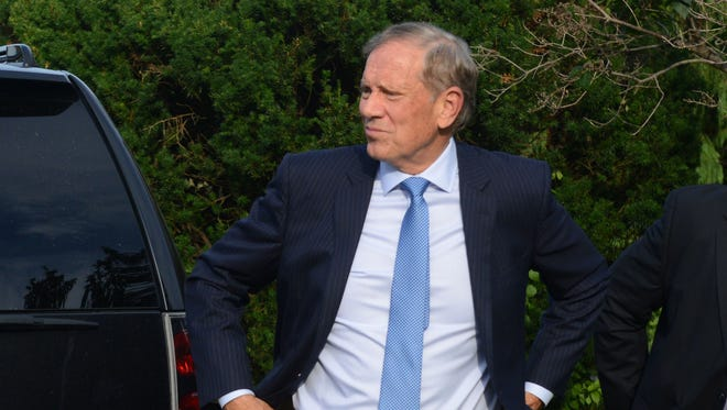 Republican presidential candidate, former New York Gov. George Pataki attends the Voters First Presidential Forum at Saint Anselm College August 3, 2015 in Manchester, New Hampshire.