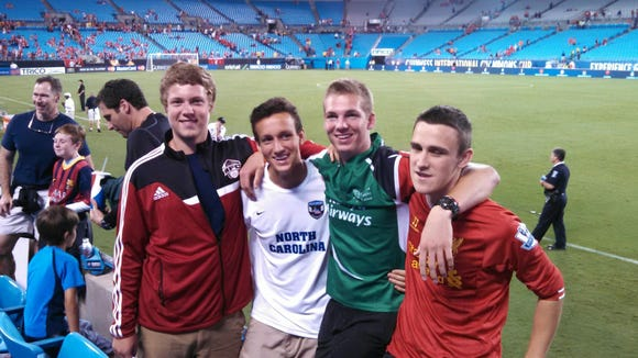 Owen junior Jesse Foreman (in white) has withdrawn from his high school classes to pursue a pro soccer career overseas.