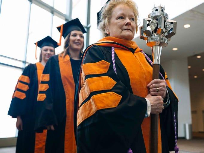 Mace Bearer Donna Lynch-Smith, Assistant Professor,