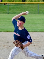 Birmingham's Noah Wood shows off his pitching form in U-12 state tournament action in the Upper Peninsula.