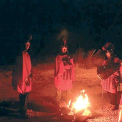 Roman soldiers Skyler Settle, Gary Allen and Matthew