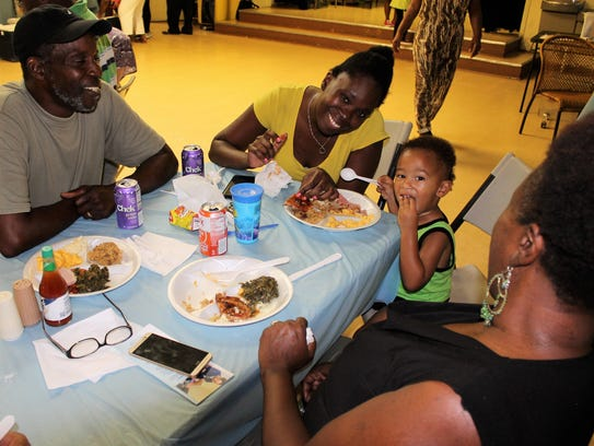 Fun, food and family being enjoyed by William Hazelton,