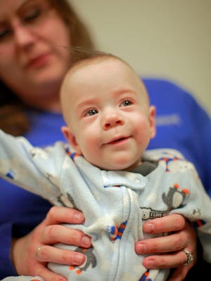 Gage Noble of Springfield Township, a preemie born at 27 weeks in 2011.