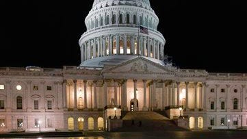 The U.S. Capitol is seen in Washington, Monday night, June 23, 2014.