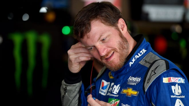 Dale Earnhardt Jr. during practice at Talladega Superspeedway on Friday.