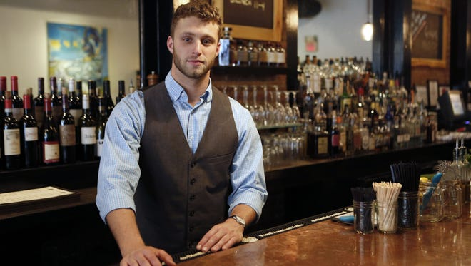 Paul Ritto, a bartender at 8 North Broadway in Nyack.