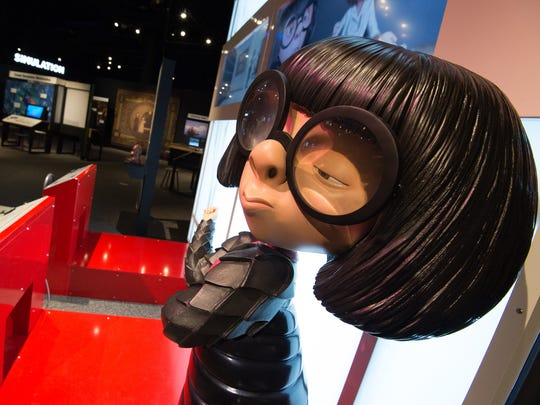 Edna Mode from the Incredibles on display at The Science