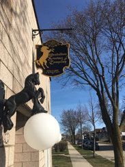 The Westallion Brewing Co. proudly hung out its sign