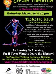 Manitowoc Public Library gala poster