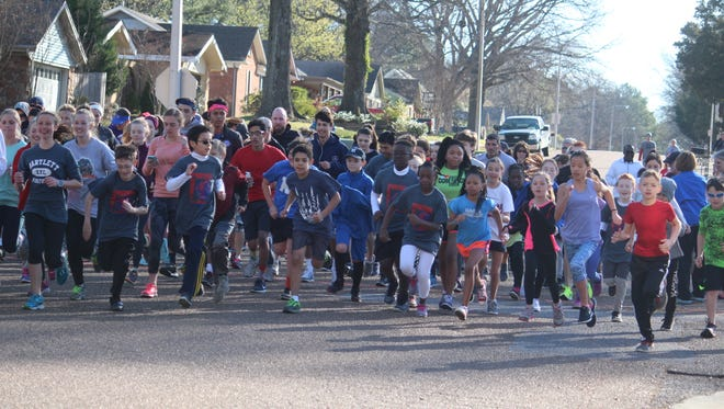 Students from various Bartlett City Schools were up front and center, ready to start the Panther Prowl 5K Run/Walk at Bartlett High School on March 4.