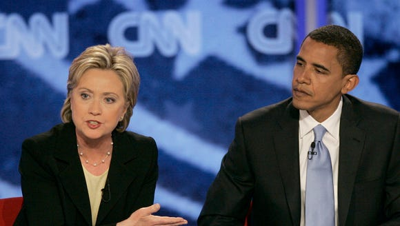 Clinton and Obama in the less friendly cycle of 2008.