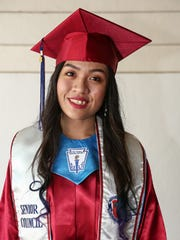 """Okkodo High School Class of 2015 Valedictorian Joleen Unas. """"As Mango once said, 'Sometimes you just go out like a buster and there's nothing you can do about it.' In the end, we can't control  everything that happens in our life, but what we can do is accept it for what it is, and learn."""""""