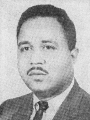Alvin Holmes as a 28-year-old candidate for the Board