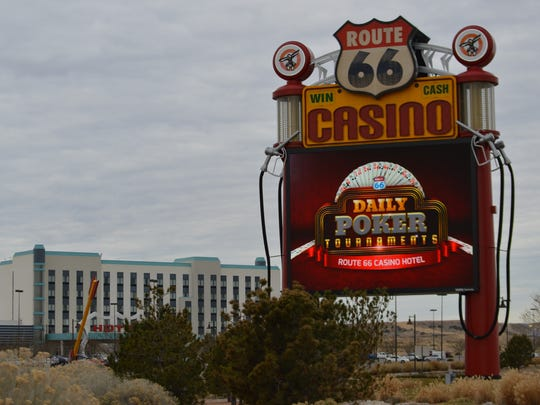 "This Jan. 13, 2017 photo shows the Route 66 Casino outside of Albuquerque, N.M., along the historic Route 66. The casino and hotel was among the locations featured in ""Hell or Hight Water."""