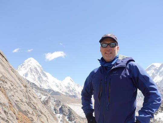 Allan McLeland during his Mt. Everest excursion.