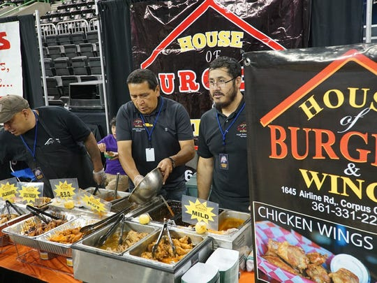 House of Burgers was one of several featured restaurants during Wingapalooza 2017 at the American Bank Center.
