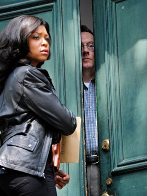 "Detective Carter (Taraji P. Henson) has questions for Harold Finch (Michael Emerson) in ""Person of Interest."""