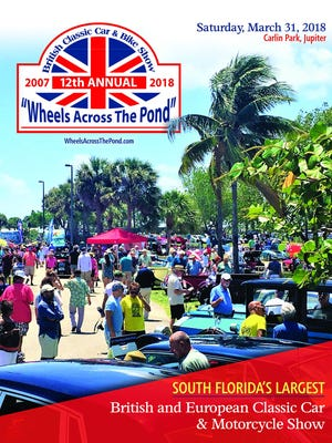 12TH ANNUAL WHEELS ACROSS THE POND - Check out this annual car event scheduledMarch 31 at Carlin Park,750 Highway A1A, in Jupiter. Pre-registration is open. Since itsfirst show in 2007, it has continued to grow to where now they expect more than 250 British and European Classics eachyear. Wheels Across The Pond is free to spectator admission and the show raises money each year for a Jupiter-based no-kill animal rescue center, the Busch Wildlife Sanctuary. For information, call 561-601-3212,
