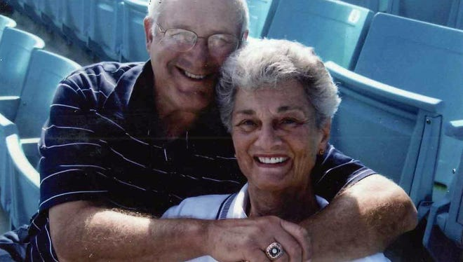 Ginger Haupt of Melbourne meets one of her childhood heroes, former Pittsburgh Pirates pitcher Steve Blass. The two met when the Pirates visited Space Coast Stadium on March 2, 2006.